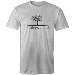 TALOWOOD PLAIN TREE LOGO- MENS & WOMENS T-SHIRT GREY