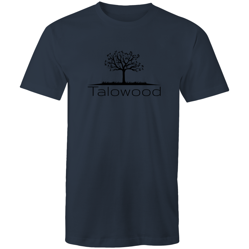 TALOWOOD PLAIN TREE LOGO- MENS & WOMENS T-SHIRT NAVY