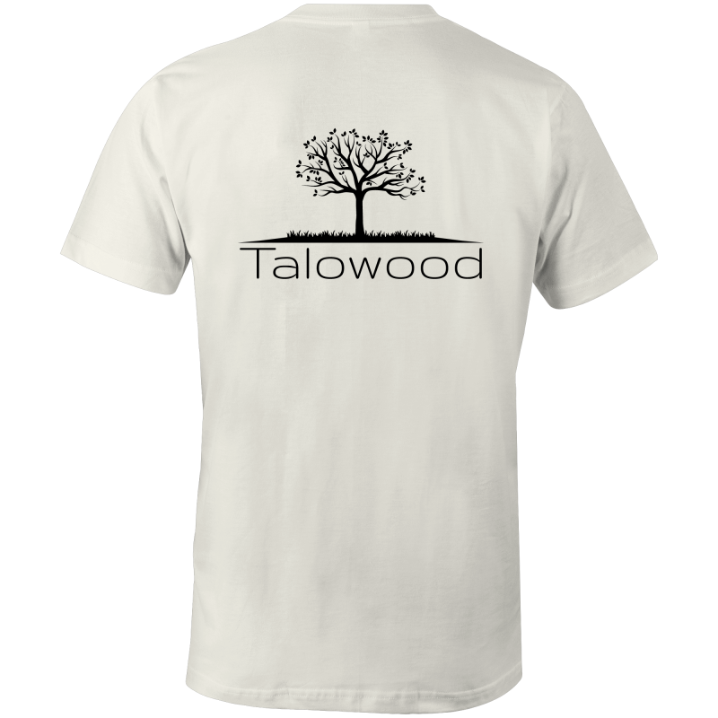 Talowood 100% Cotton Fair Trade Eco Friendly Tee Shirt Natural