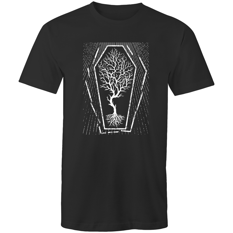 EARTH DAY 2020- GLOBAL WARMING TREE IN COFFIN T-SHIRT BLACK