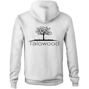 High quality 100% cotton hoodie with Talowood Tree Logo white