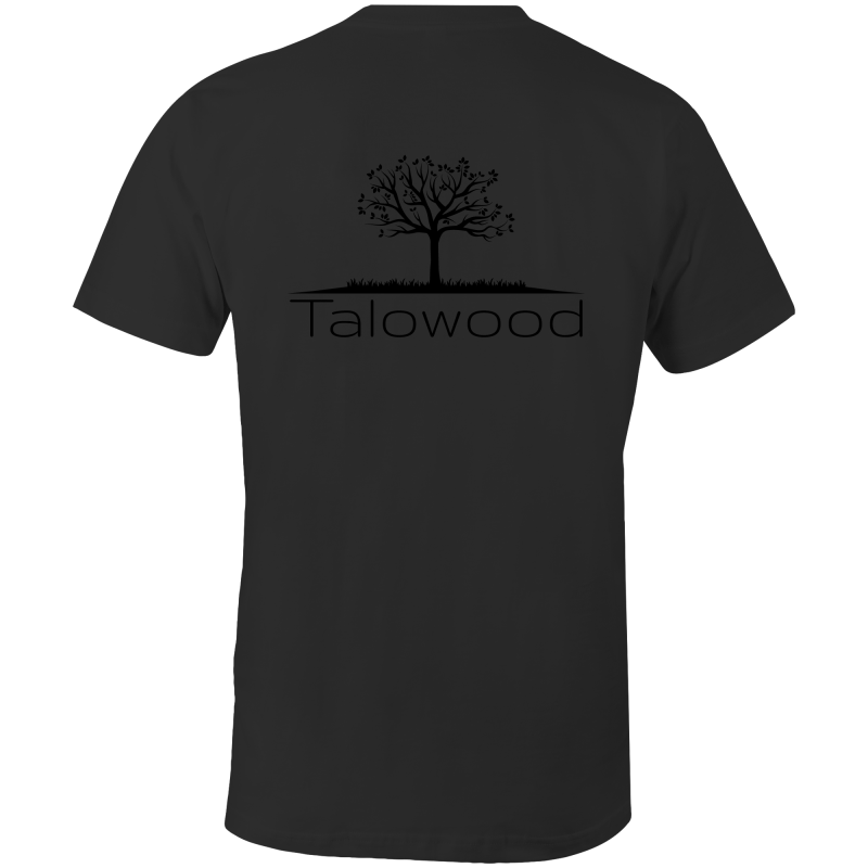 Talowood 100% Cotton Fair Trade Eco Friendly Tee Shirt Black