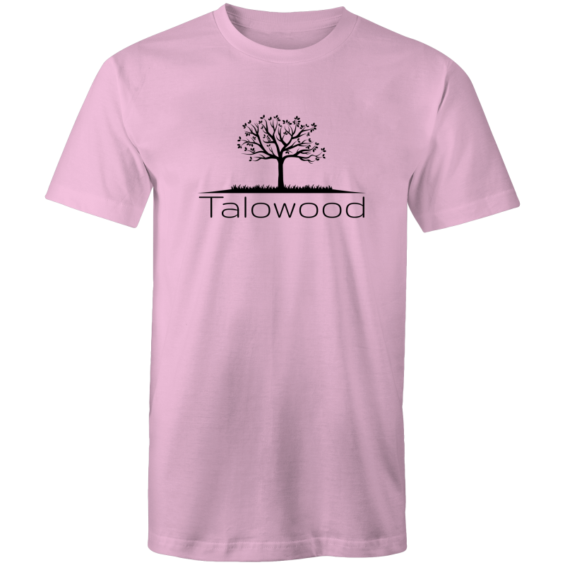 TALOWOOD PLAIN TREE LOGO- MENS & WOMENS T-SHIRT PINK