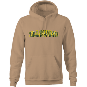 High Quality Camouflage Logo Talowood Hoodie Natural