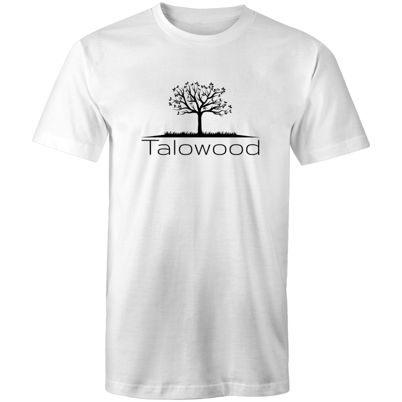 TALOWOOD PLAIN TREE LOGO- MENS & WOMENS T-SHIRT WHITE
