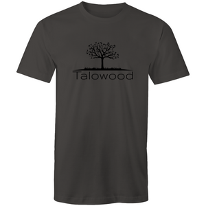 TALOWOOD PLAIN TREE LOGO- MENS & WOMENS T-SHIRT CHARCOAL