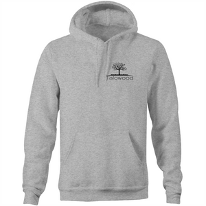 High quality 100% cotton hoodie with Talowood Tree Logo Grey