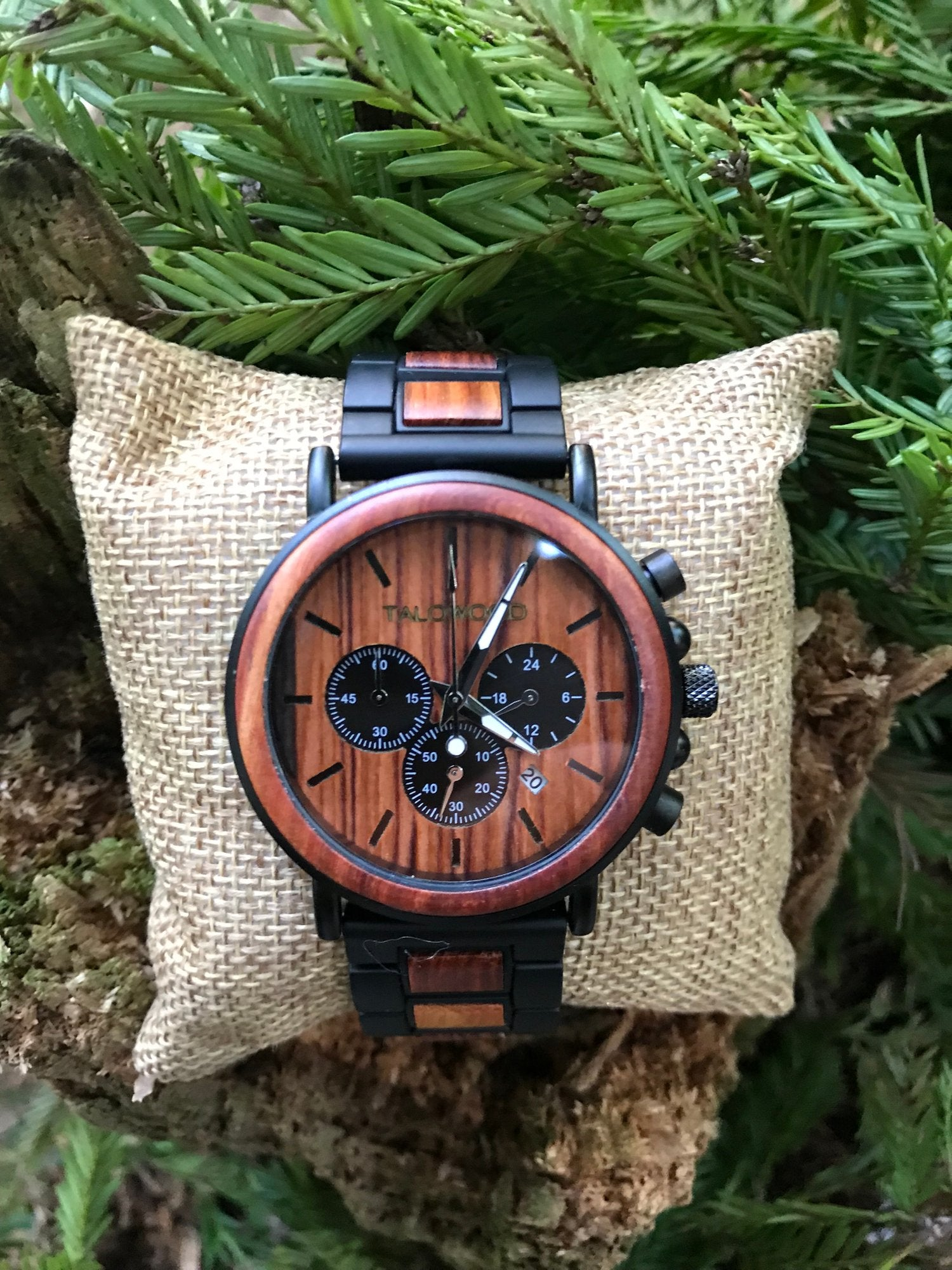 Zebrawood Maverick handcrafted watch