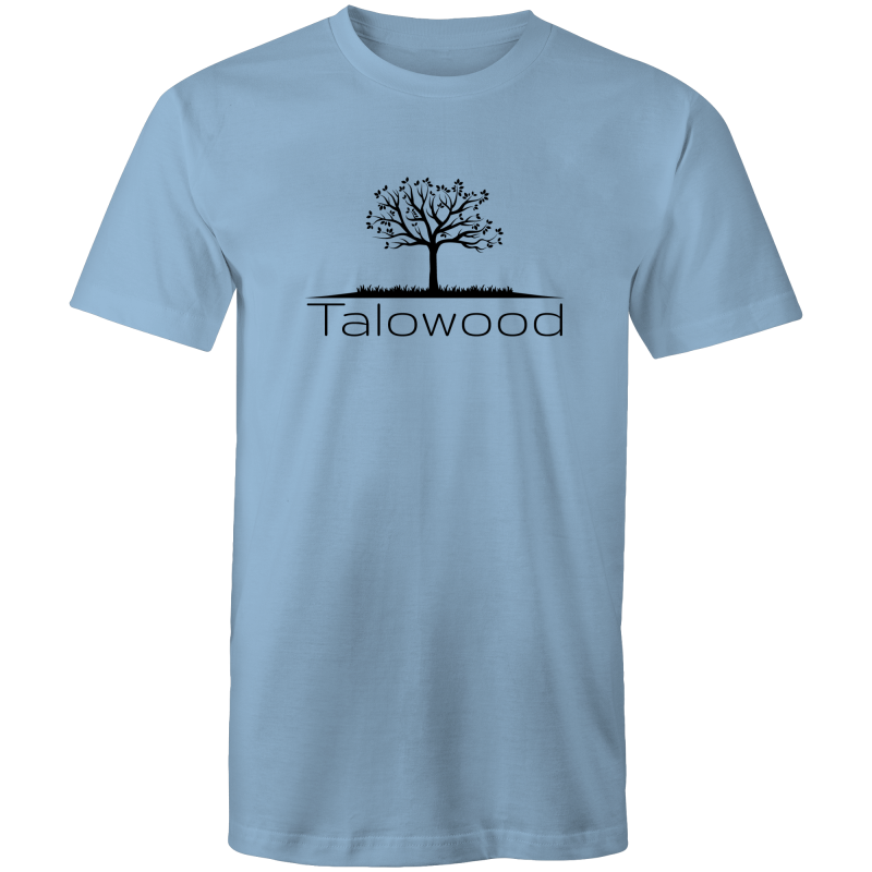 TALOWOOD PLAIN TREE LOGO- MENS & WOMENS T-SHIRT CAROLINA BLUE