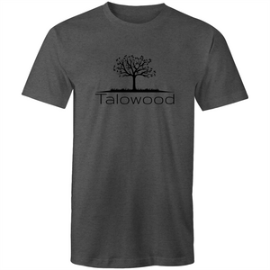 TALOWOOD PLAIN TREE LOGO- MENS & WOMENS T-SHIRT ASPHALT