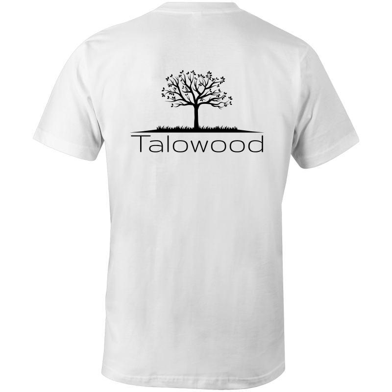 Talowood 100% Cotton Fair Trade Eco Friendly Tee Shirt White