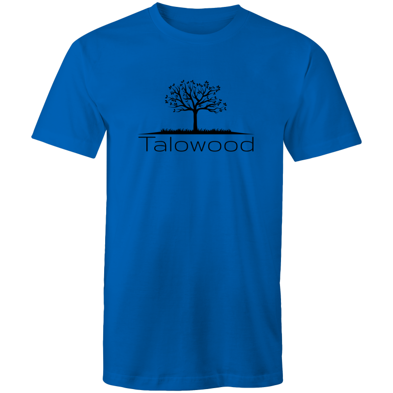 TALOWOOD PLAIN TREE LOGO- MENS & WOMENS T-SHIRT BLUE