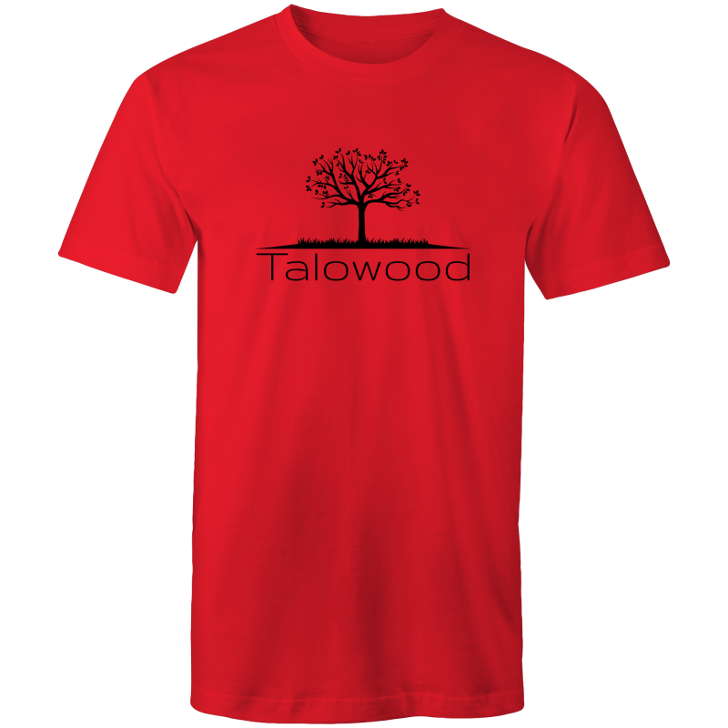 TALOWOOD PLAIN TREE LOGO- MENS & WOMENS T-SHIRT RED