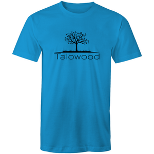 TALOWOOD PLAIN TREE LOGO- MENS & WOMENS T-SHIRT ARCTIC BLUE