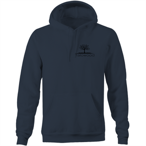 High quality 100% cotton hoodie with Talowood Tree Logo navy