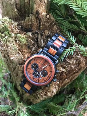 MAVERICK MENS & WOMENS WOOD WATCH