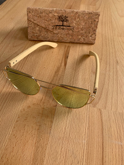 Bamboo 400 UV Handcrafted Eco Friendly Womens Sunglasses