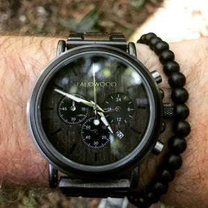 Chronograph timber eco friendly watch