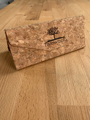 TALOWOOD CORK FOLDABLE CUSTOM SUNGLASSES CASE