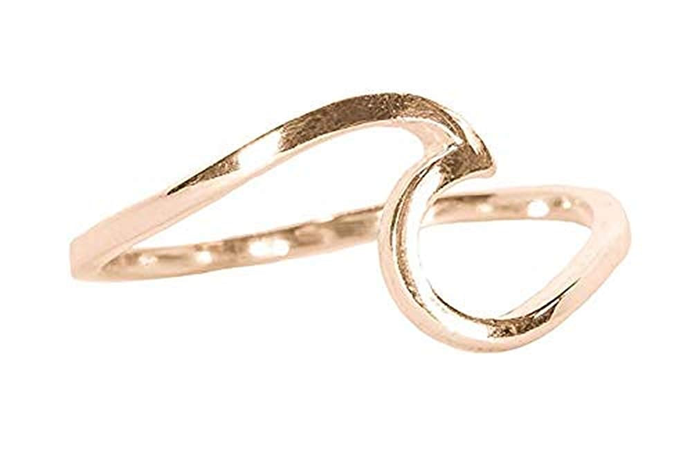 GOLD, ROSE GOLD & STERLING SILVER PLATED WAVE RING