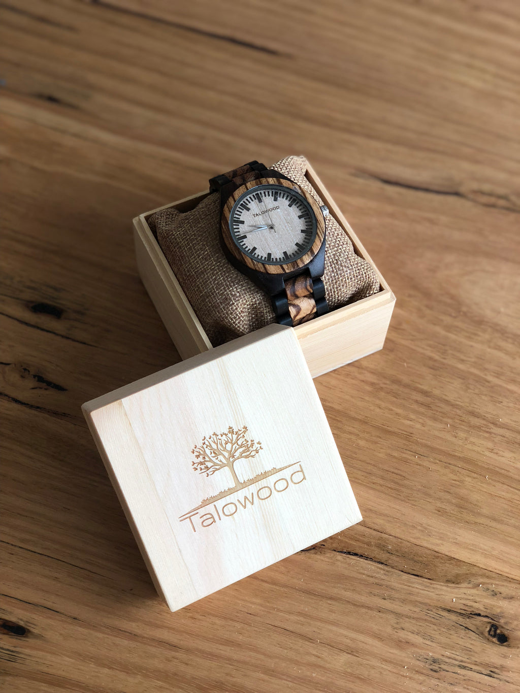 THE INNOVATOR ZEBRAWOOD HANDMADE WATCH MENS