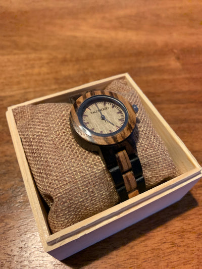 THE INNOVATOR ZEBRAWOOD HANDMADE WATCH WOMENS