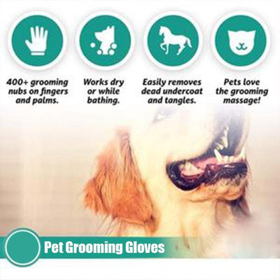 Pet Grooming Gloves For Cats, Dogs & Horses - ( 1 pair ) - worthbuyonline