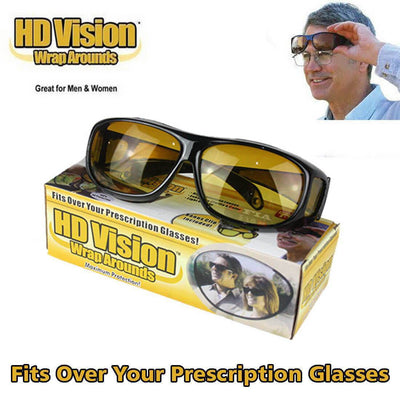 【BUY 2 EXTRA 15% OFF+FREE SHIPPING】2 PIECES HD DAY & NIGHT VISION WRAP AROUND GLASSES