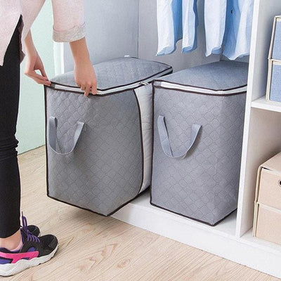 【Buy 2 Get Extra 10% Off +Free Shipping】Folding Bamboo Charcoal Clothes Storage Bag(3Pcs)