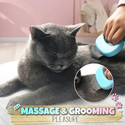 【LAST DAY PROMOTION,50% OFF】Pet Hair Removal Massaging Shell Comb
