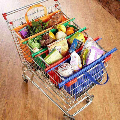 【50% OFF+FREE SHIPPING】Reusable Shopping Cart Bags (4PCS)