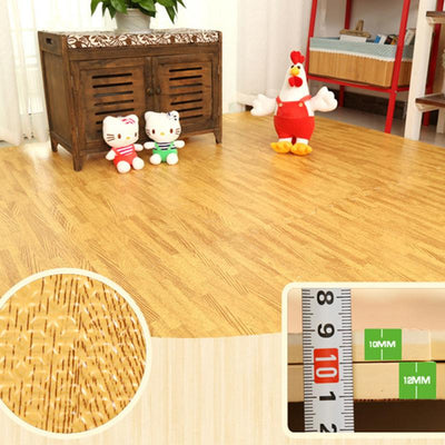 【 Buy More Save More】Wood Grain Foam Floor Tiles