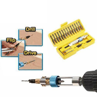 【50% OFF】20Pcs Kit High Speed Half Time Drill 20bits Drill Driver Head Screwdriver Tools for Wood