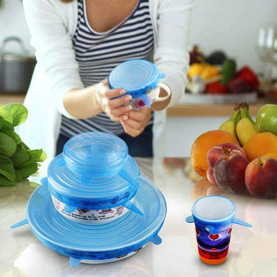【50% OFF+FREE SHIPPING】Silicone Stretch Lids (6 PCS)