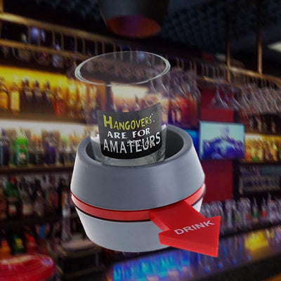 2020 Spin the Shot Drinking Game Turntable Roulette Glass