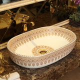 Oval Handmade Ceramic Basin #201763