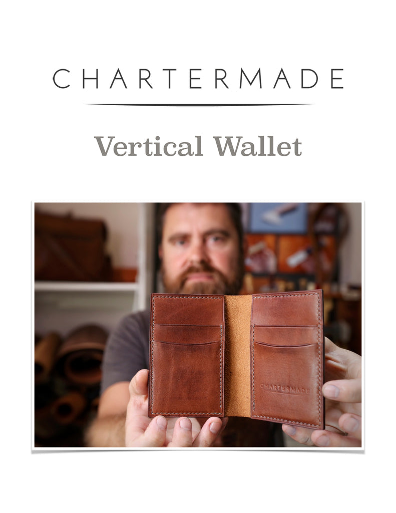 Vertical Wallet Pattern with Illustrated Instruction Manual