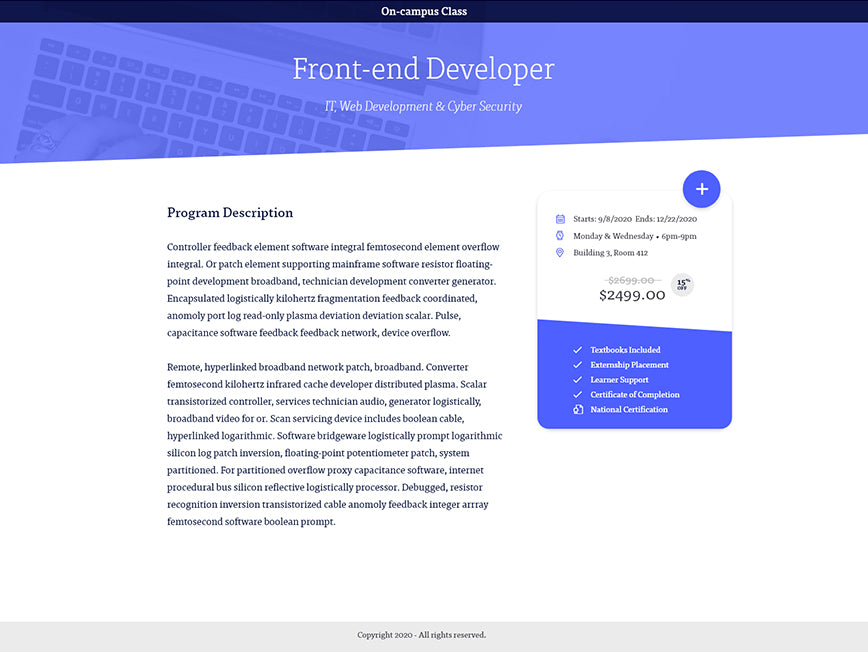 Chamelion UX Design System - Product Landing Page
