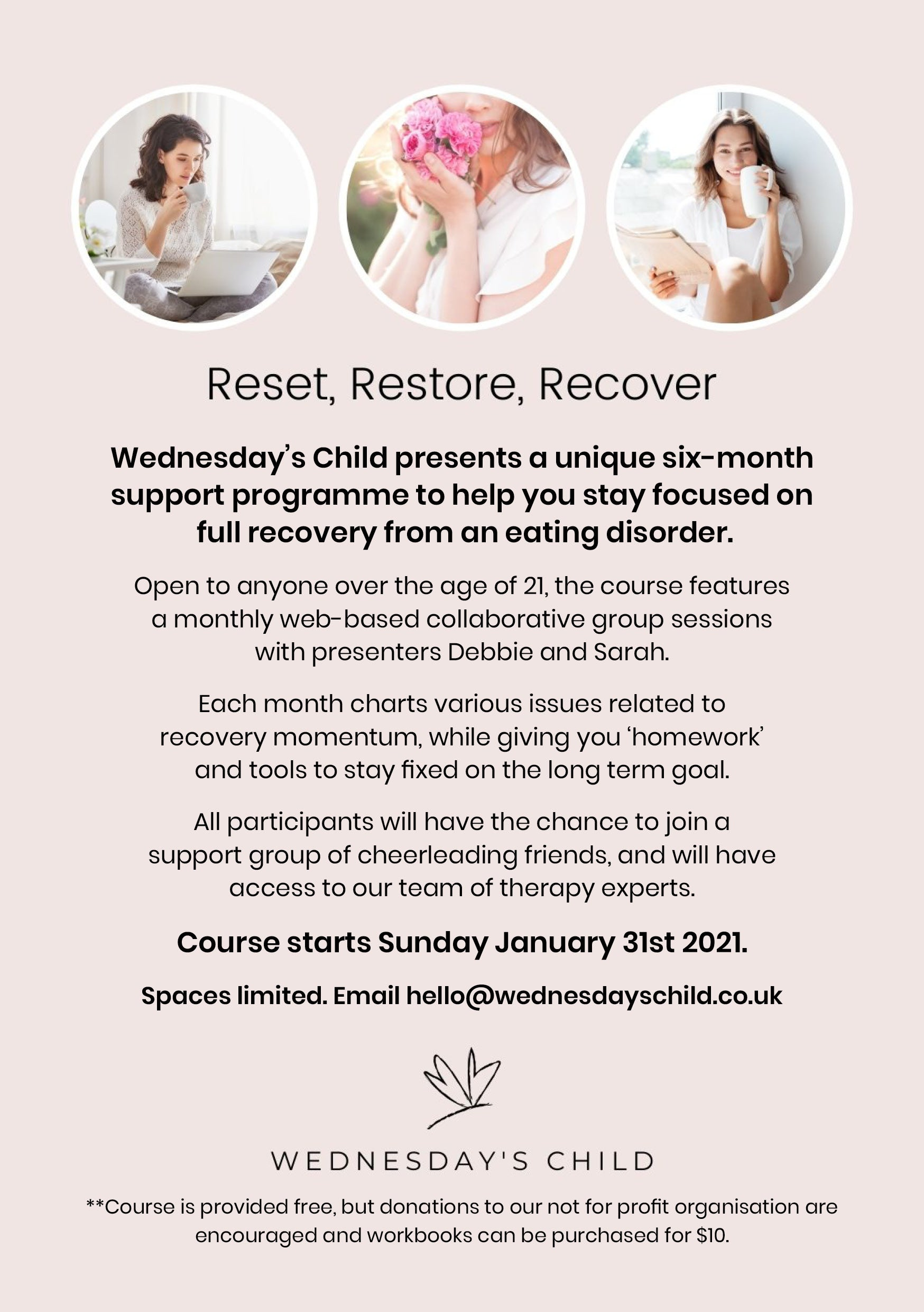 Rest, Restore, Recover – Week 5 Online - 30th May