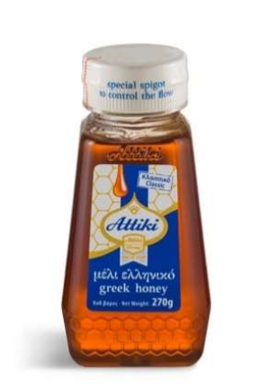 Attiki Greek Honey Squeeze 270g