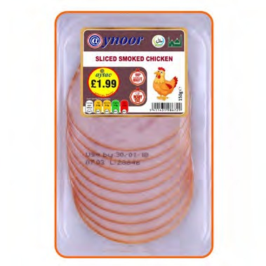 aynoor smoked chicken sliced 150g