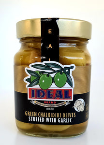 Ideal green olives garlic 340g