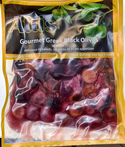 GREEK BLACK OLIVES 400G