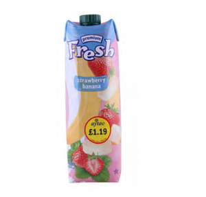 FRESH STREBERRY BANANA 1L