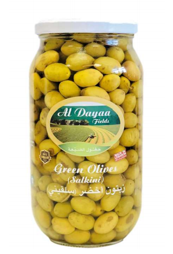 Al Dayaa green salkini olives 850g
