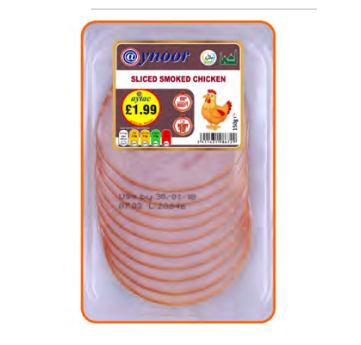 AYNOOR SLICED SMOKED CHICKEN BREAST 150G