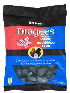 ION Dragees Dark chocolate almonds 200g