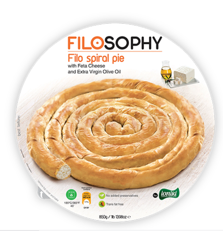 850G SPIRAL PIE w/ FETA CHEESE AND EVOO