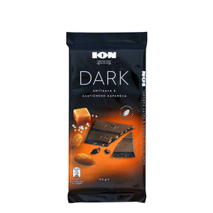 Ion Dark almonds salted caramel 90g