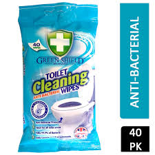 Greenshield toilet wipes x40